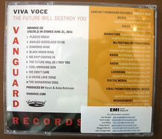 "VIVA VOCE '11 ""The Future Will Destroy You VANGUARD"" 10trk PROMO advance CD"