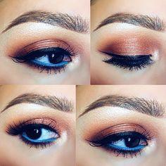 Beautiful look for dark eyes