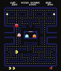 Pac Man.    I loved this game so much that when we got our Wii, the first thing I did.. was download Pacman for it.