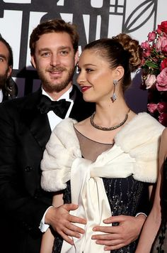 Proud New Parents:  Beautiful & Elegant Beatrice Borromeo Casiraghi, with her Handsome Husband Pierre Casiraghi (younger son of the late Stefano Casiraghi), at the 2017 Rose Ball.