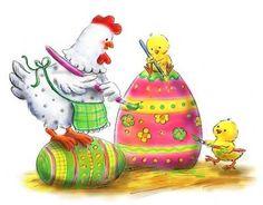 Easter - Hen & Chicks Paint Egg