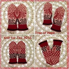 Ravelry: Knits for tits 2016 (Tree of hope) pattern by JennyPenny
