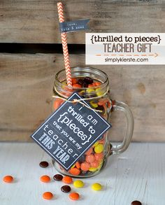 Thrilled to Pieces Teacher Gift: Free printable for both the beginning AND end of the school year!  | simplykierste.com