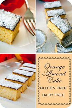 orange Almond Cake - gluten free & dairy free