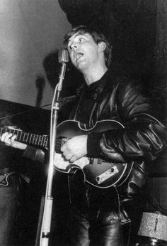 * The Beatles! * Paul McCartney. Aintree Institute. Late Summer.  1961.