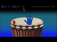 Learn Djembe Rhythm #1 - Easy 60BPM - YouTube Music Education, Music Class, Music Rings, Djembe Drum, Hand Drum, Teaching Music, Music Lessons, Drums, Learning