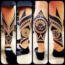 Resultado de imagem para tattoo maori perna