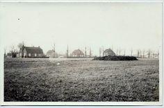 Circa 1969 zicht vanuit de Bleekerweg op de boerderij van Toon van den Broek aan de Meijelseweg Heusden (gemeente Asten).