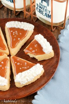 Salted Caramel Pie Slice Cookie Recipe- go ahead and take a bite!