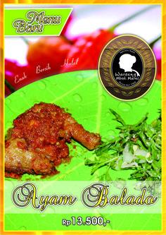Menu Ayam Balado tersedia di outlet cabang FoodCourt Solo Grand Mall lantai 3