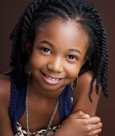 This would look great on our girls:  child's natural hairstyle
