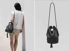 Kimberly Wu, an automobiledesigner, started Building Block with her sister Nancy as a side project. The first collection of minimal yet stylishly practical bags was first launched in spring of 2012. Constructed with details like rubber shoulder straps, soft leather tassels, and actual wood