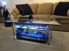 Aquarium Coffee Table by Steps + Collection I Made it! Favorite Build an aquarium coffee table for a fraction of the .