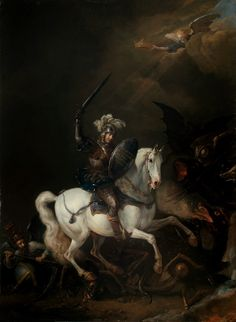 Philips Wouwerman, Knight Vaquishing Time, Death and Monstrous Demons
