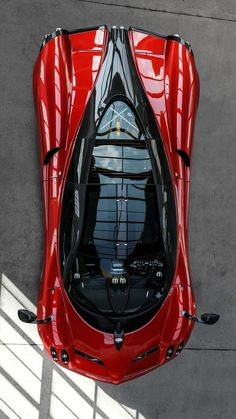 Luscious Red Pagani Huayra. Add this to car to your #dreamcar garage on @eBay and even win some cool prizes. Click on the image to find out more! #WildWednesday #Pagani
