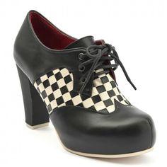 7395b6306334 Lola Ramona sko - Ternede snøresko med sort snude og hælkappe - Angie P