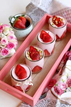 Tavaszi epres joghurthab recept