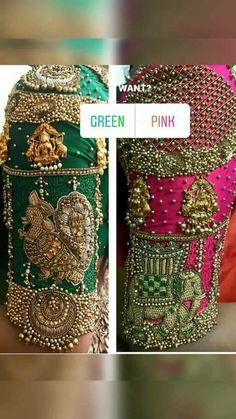 All Ethnic Customization with Hand Embroidery & beautiful Zardosi Art by Expert & Experienced Artist That reflect in Blouse , Lehenga & Sarees Designer creativity that will sunshine You & your Party Worldwide Delivery. Wedding Saree Blouse Designs, Blouse Designs Silk, Lehenga Designs, Saree Wedding, Maggam Work Designs, Blouse Models, Work Blouse, Embroidery Works, Embroidery Jewelry