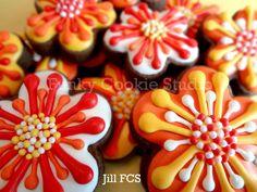 "gorgeous ""flower"" cookies"