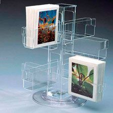 Lightweight collapsible greeting card display stand card dis rotating acrylic greeting card holder view acrylic brochure holder vanjin product details from shenzhen vanjin craftwork co m4hsunfo