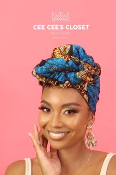 Speed things up with a gorgeous wrap - Protective styles for natural hair - Hair Wrap Scarf, Hair Scarf Styles, Curly Hair Styles, Natural Hair Styles, How To Wrap Hair, Scarf Head Wraps, Natural Hair Accessories, Scarf Hairstyles, African Hairstyles