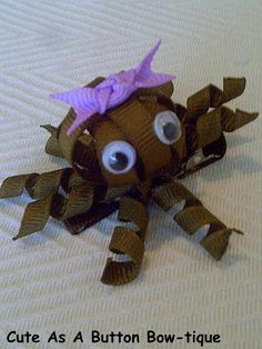 Octopus Ribbon Sculptured Hair Bow by JoHiracheta on Etsy
