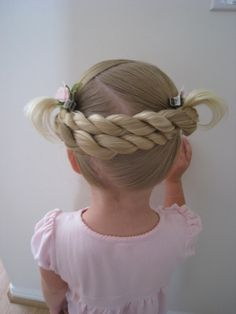 Little girl hairstyle - this is adorable - but how in the world am I supposed to do it?