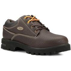 20c499718929 Lugz Men s Empire Low Top Water Resistant Oxford Shoes (Dark Brown Black) -  D
