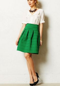 Anthropologie skirt - great green clothes for St. Paddy's Day St Paddys Day Style #UNIQUE_WOMENS_FASHION