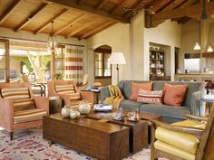 California/Ranch Style. Amazing coffee table.