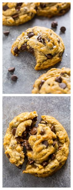 Vegan Chocolate Chip Cookies are thick, chewy, and loaded with gooey chocolate. No one will guess they're vegan! - Coconut About Best Vegan Chocolate, Vegan Chocolate Chip Cookies, Chocolate Recipes, Best Vegan Cookies, Shortbread, Cookie Sandwich, Cookie Recipes, Dessert Recipes, Wrap