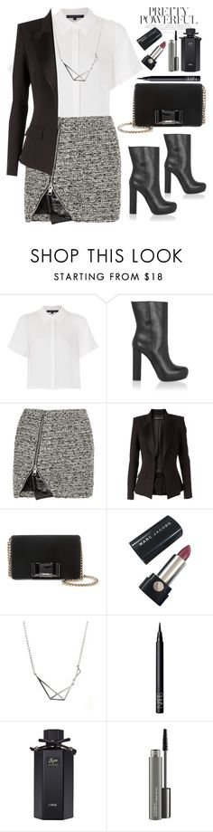 """""""Untitled #491"""" by jovana-p-com ❤ liked on Polyvore featuring French Connection, Marni, Bouchra Jarrar, Alexandre Vauthier, Miu Miu, Marc Jacobs, NARS Cosmetics, Gucci and MAC Cosmetics"""
