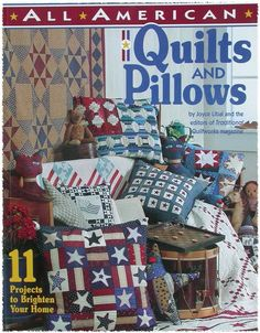 ALL AMERICAN QUILTS AND PILLOWS PATTERN BOOK by TheHowlingHag, $7.95