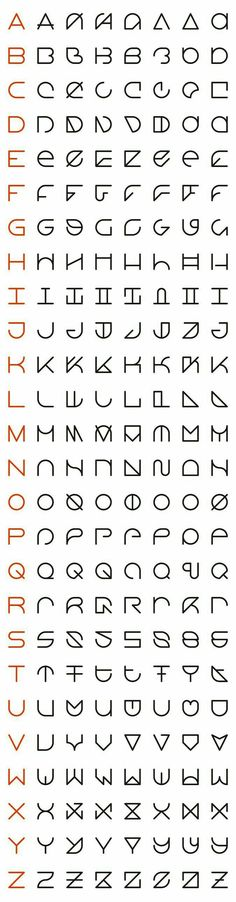 An Interview with Rolando G. Alcantara, Typographic Innovator like the second column font alphabet Letras Cool, Schrift Design, Logo Design, Graphic Design, Nail Design, Print Design, Diy Tattoo, Tattoo Hand, Coding