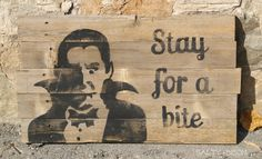 Wooden Halloween Sign.