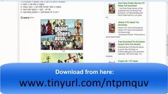 GTA 5 documents for download, are made up of bits of code concentrated from the Ps3 adaptation of the diversion. GTA 5 download for PC, is a full amusement that you will play for a long time, with every one of the three characters (Trevor, Michael and Franklin) in the greatest Grand Theft Auto world to date. Installer likewise desires the Playstation and Xbox comforts. Check it Out : https://www.youtube.com/watch?v=Q7CaQDeAwT0