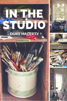 In The Studio: Duke Hagerty #inthestudio #studioorganizing #artiststudio #hkpowerstudio