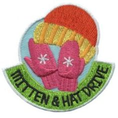 MakingFriends Mitten and Hat Drive Patch Help out those less fortunate by having a drive for warm clothing. This patch will be a remembrance for your girls for their community service. Girl Scout Fun Patches, Daisy Patches, Bag Patches, Cool Patches, Daisy Scouts, Girl Scouts, Brownie Badges, Brownie Scouts, Blessing Bags