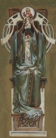 Joseph Christian Leyendecker (American, 1874-1951) Illustration for the Rosicrucian Order 18 x 8in