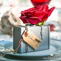 Miniature Porcelain Luggage Vase Wedding Favor - Weddingstar
