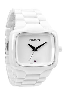 NIXON - ceramic body with stainless steel skeleton, scratch resistant sapphire crystal with anti-glare treatment, custom numbered caseback and triple gasket ceramic crown.