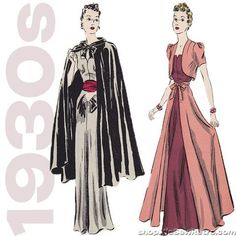 """1930s 40"""" Bust Dress Vintage Sewing Pattern - Pictorial Review 9471 – WeSewRetro"""