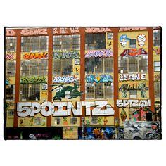 Graffitee Studios 5 Pointz LIC Graffiti Building Graphic Art on Wrapped Canvas