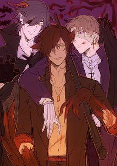 Halloween anime boys Touken Ranbu demon wolf zombie