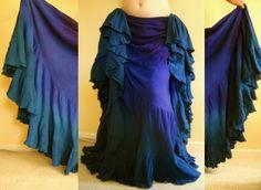 blue peacock skirt bellydance - Google Search
