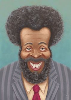 Very cool portrait painting of Brother Whitman Mayo Spr Delta Pi .known as Grady Wilson from Sanford and Son classic TV show. Funny Caricatures, Celebrity Caricatures, Cartoon Faces, Cartoon Art, Funny Faces, Cartoon Drawings, African American Art, African Art, Sanford And Son