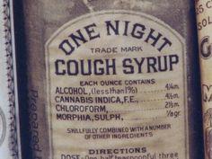すごい咳止めシロップだ。アルコールにカナビス、クロロホルムにモルヒネ入り!近所のツルハドラッグに是非置いてほしい。