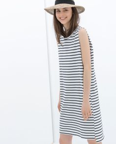 Image 2 of STRIPED COTTON DRESS from Zara