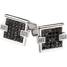 14kt white Black & white diamond cufflinks, 2cttw. Find them at a jeweler near you: www.stuller.com/locateajeweler