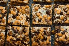 Magic Bars — butterscotch , chocolate , dessert , easy , fast — For Two, Please